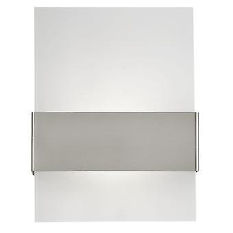 Eglo Nadela blanco cristal y lámpara de pared de acero inoxidable