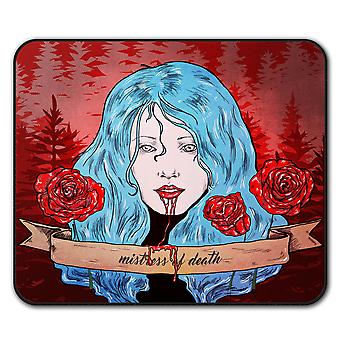 Blut Rose Scary Horror Anti-Rutsch-Mauspad Pad 24 x 20 cm | Wellcoda