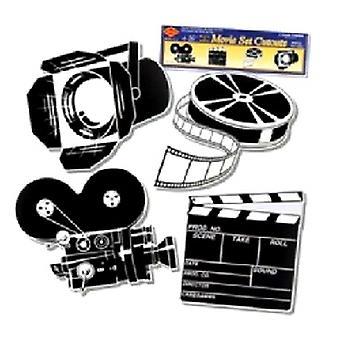 Schwarz / Weiß Film Set Ausschnitte
