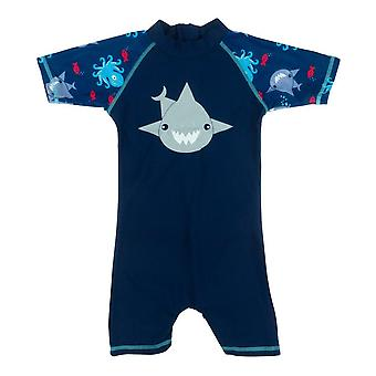 Banz Baby and Kids UV All in One - Shark - Navy