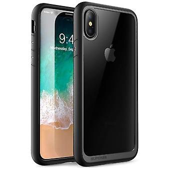 iPhone Xs Case, [Unicorn Beetle Style] Premium Hybrid Protective Clear Case 2018 Release (Black)