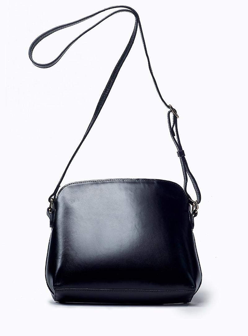 Viver Leather Crossbody Bag Luna Black