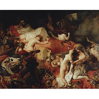 Tod von Sardanapalus, Eugene Delacroix, 50x40cm