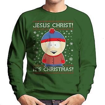 South Park Stan Christmas brei patroon mannen Sweatshirt