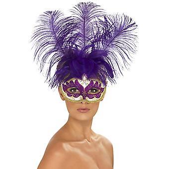 Fioletowy Cancan piękno oczu maski wtapiania