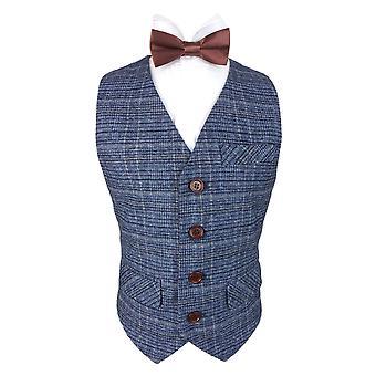 Romano Boys Blue Tweed Vesten