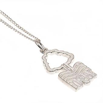 Ciondolo in argento Sterling Nottingham Forest & catena