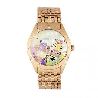 Bertha Ericka MOP Bracelet Watch - Rose Gold