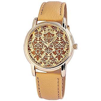 Excellanc 195007500194-relógio de pulso, imitação de couro, cor: bege