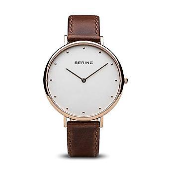 Montre analogique Quartz Bering avec bracelet en cuir 14839-564