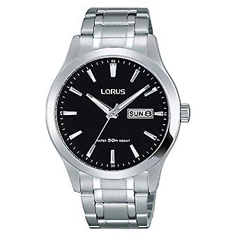 Lorus Watches Unisex analogue watch with metal plated stainless steel RXN23DX9