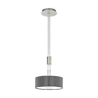 Eglo - Romao ascensão e queda do pendente LED luz cetim níquel cinza EG95347
