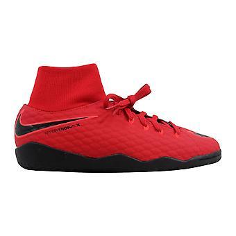 Nike JR HypervenomX Phelon 3 DF IC University Red/Black 917774-616 Grade-School