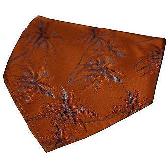 David Van Hagen Palm Tree Silk Handkerchief - Burnt Orange