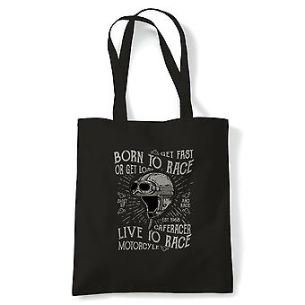 Born to Race,  Motorbike Motorcycle Chopper-  Tote - Gift