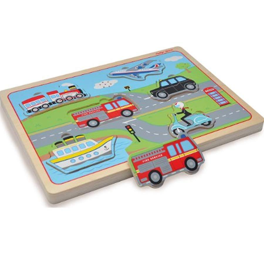 Indigo Jamm Wooden Sound Transport Puzzle - Designed For Children Aged 12 Months Plus