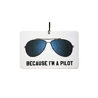 Want ik een Pilot auto luchtverfrisser ben