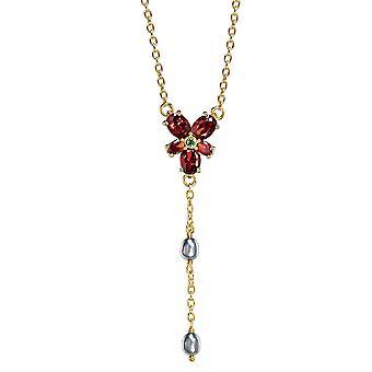 Sterling Silber Harry Potter Hermine es Red Crystal Halskette