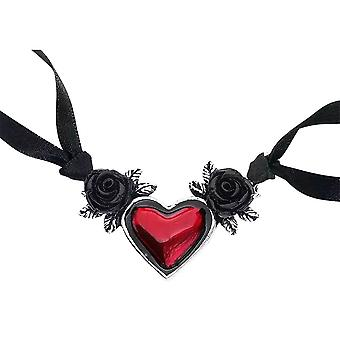 Alchemy Gothic Blood Heart Rose Pewter vedhæng