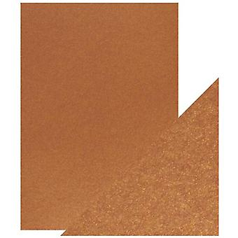 Craft Perfect von Tonic Studios A4 Pearlescent Card Rusted Crimson | Pack von 5