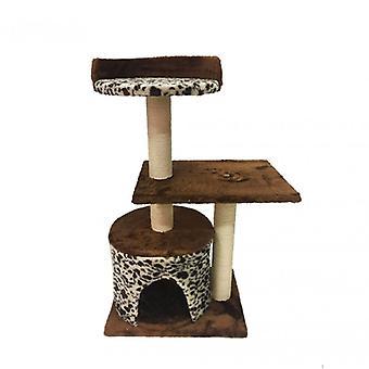 Luckypet Tree Game Scratches Beige Brown Cuccia Relax Cat Cats 75x40x30