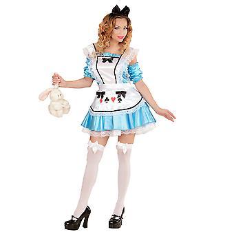 Wonderland Girl (klänning W/underkjol ärmar förkläde Bow H