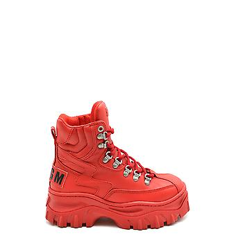Msgm Ezbc016067 Women's Red Leather Ankle Boots