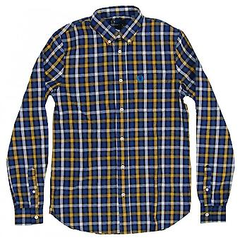 Fred Perry Herringbone Large Check Men's Long Sleeve Shirt M6240-886