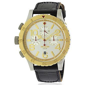 Nixon Chronograph läder Mens Watch A3631884