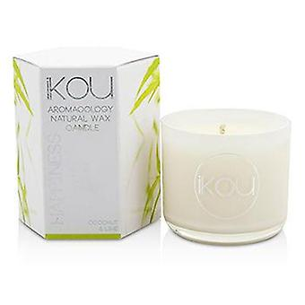 Ikou Eco-luxury Aromacology Natural Wax Candle Glass - Happiness (coconut & Lime) - (2x2) inch