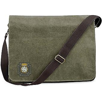 Duke Of Edinburghs Royal Regiment - Concesso in licenza British Army ricamato Vintage Canvas Despatch Messenger Bag