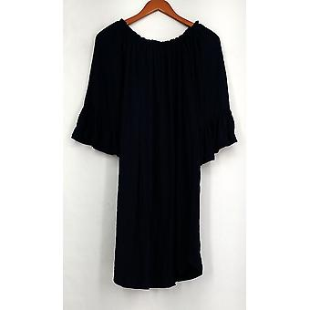 OSO Casuals Dress Off The Shoulder Poncho Navy Blue Womens A432363