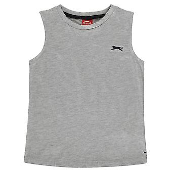 Slazenger Jungen ärmellose T Shirt T-Shirt T-Shirt Top Säugling Tank