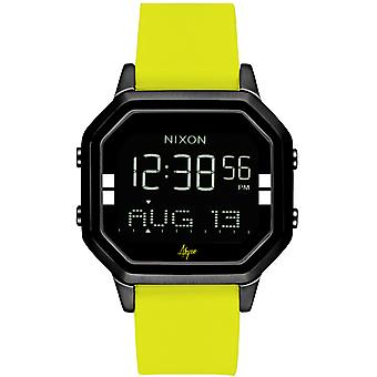 Nixon the siren Watch for Digital Quartz Woman with Silicone Bracelet A12112972
