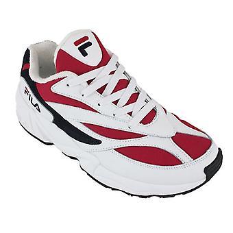 Rad sneakers Casual ror V94M låg vit/navy/röd 0000087443_0