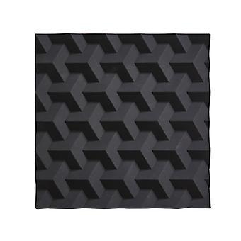 Silikon-Untersetzer, schwarze Origami Zone