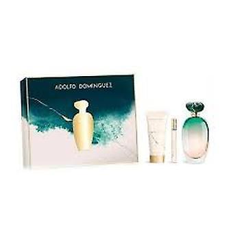 Adolfo Dominguez Unica gift set 100ml EDT + 75ml body lotion + 10ml EDT