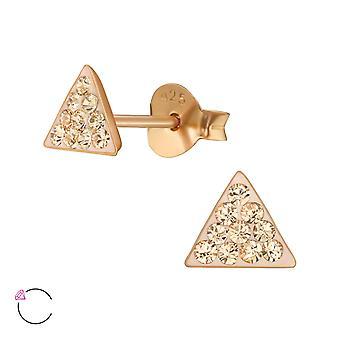 Triangle Crystal från Swarovski®-925 sterling silver öron dubbar-W39044X