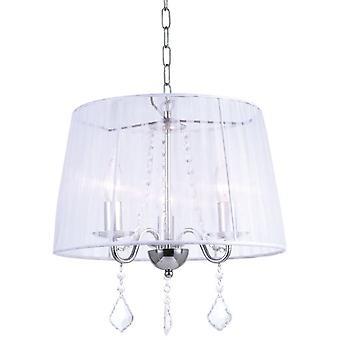 Wellindal 3Xe14 pendant white screen Horganza Lumiere