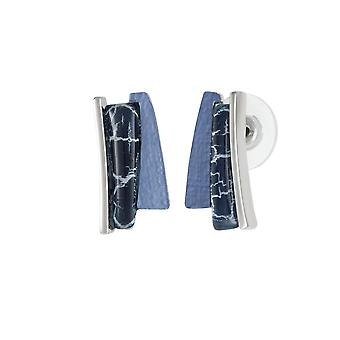 Eternal Collection uttrykk blå multi sølv tone Stud gjennomboret øredobber