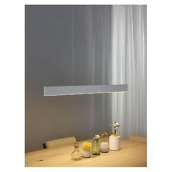 Lucide Raya LED Modern Rectangle Metal White Pendant Light