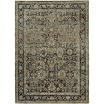 Andorra 7125c green/ brown indoor area rug rectangle 3'3