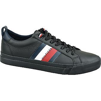 Tommy Hilfiger Flagge Detail Leder Sneaker FM0FM02576-BDS Herren Sneakers