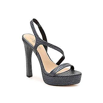 Imagine Vince Camuto Women's Prent Heeled Sandal, Black, 7.5 Medium US