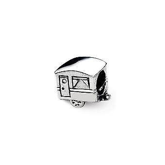 925 plata esterlina pulido reflexiones camper trailer abalorios encanto colgante collar regalos de joyería para las mujeres