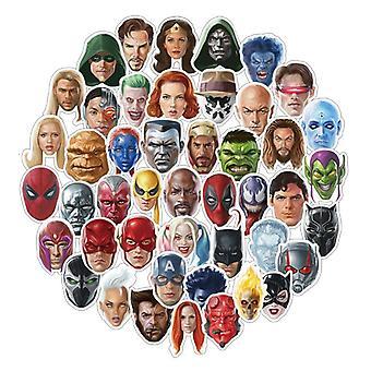 50x Klistermärken, Superhjältar #2
