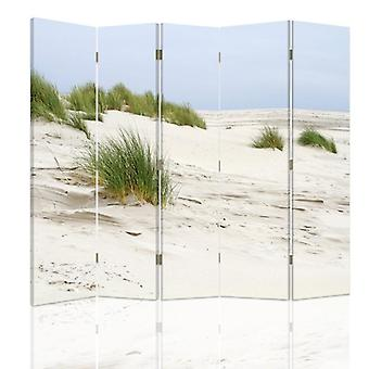 Raumteiler, 5 Panels, Doppelseitig, Leinwand, Sanddünen