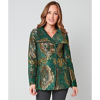 Joe Browns Womens Vintage Jacquard zip upp jacka