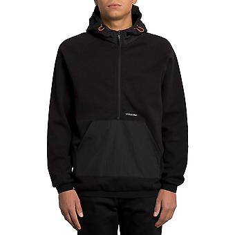 Volcom Half zip Tech Pullover Hoody in nero