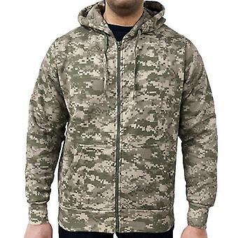 Spil digital camouflage hoodie med lynlås
